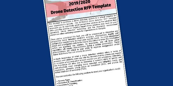FREE Download: 2019/2020 Drone Detection RFP Template