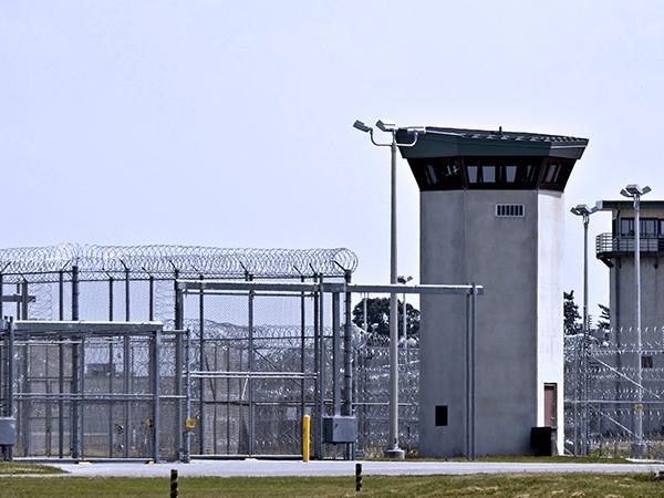 Correctional facility gates
