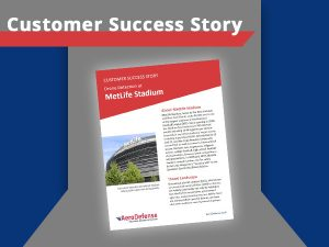 Customer success story with MetLife Stadium on early warning for drones