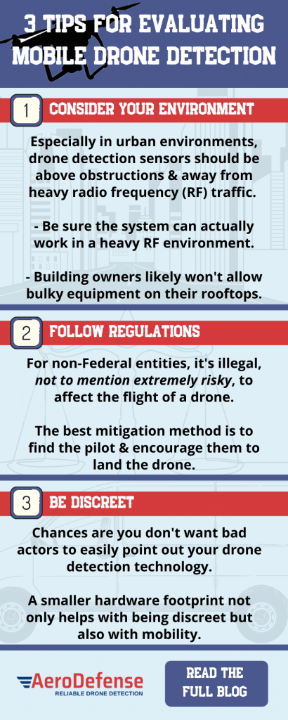 Tips for Evaluating Mobile Drone Detection Systems