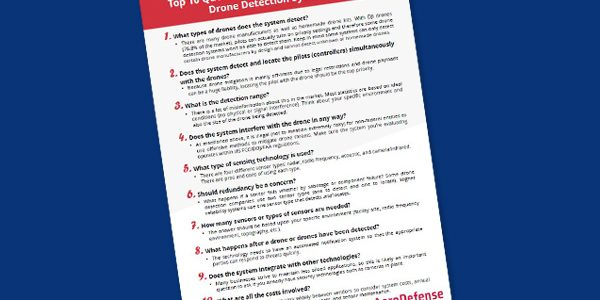 FREE Download: Top 10 Things to Ask When Evaluating Drone Detection Systems